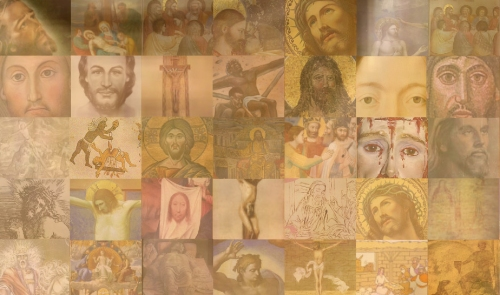 jesus mosaic detail