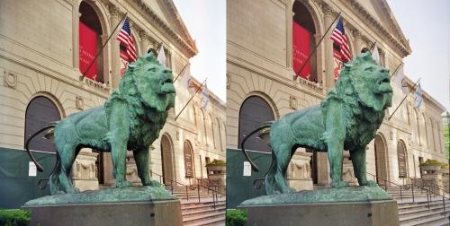 Art_Institute_of_Chicago_Lion_Statue_(cross-eye_stereo_pair)